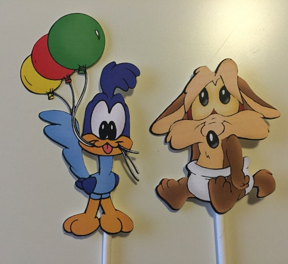Set of 9 Baby Looney Tunes Characters Centerpiece Picks