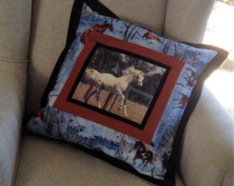 "Personalised ""Memories"" cushion cover"