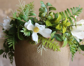 Fern and Cosmo Flower Crown