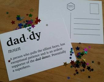 Daddy definition postcard - A6 print