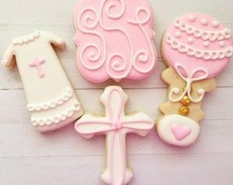 One Dozen Christening Cookies