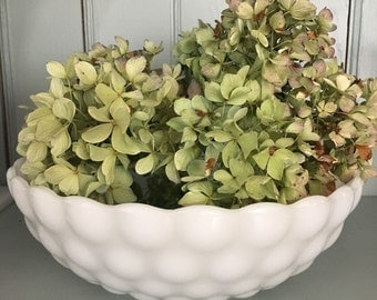 Milk Glass Bubble Bowl or Planter