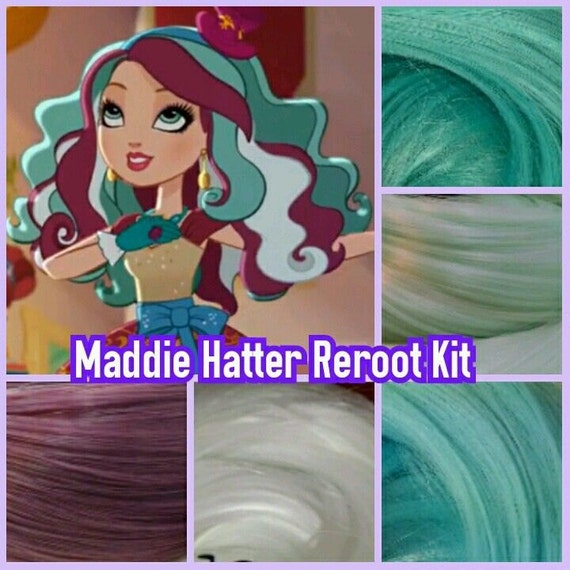 Ever After High Maddie Hatter Custom Doll Nylon Hair Re-root Pack for Customizing your Doll INTL SHIP