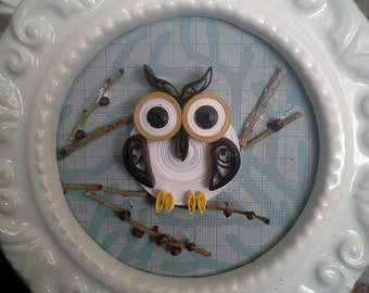 Quilled Branch Owl