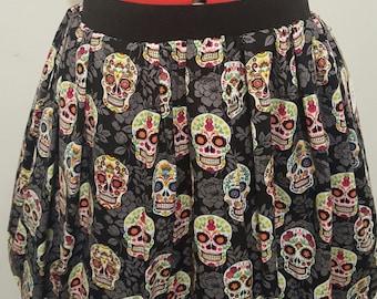Sugar Skull Skirt w/ Pockets