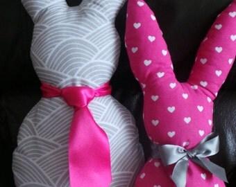 handmade shaped cushions made to order / bunnies/ owls/ ducks/ cats/
