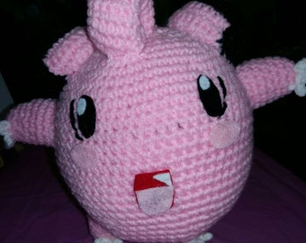 Crocheted Clefairy Plushie