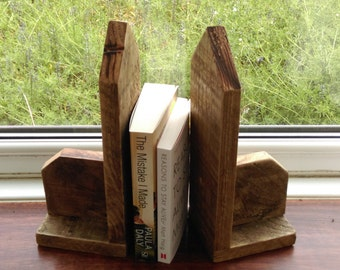 rustic book ends