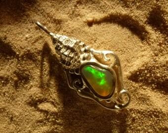 Pendant with Opal, 41mm Opal pendants, unique