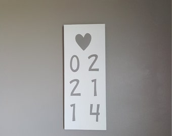 Handpainted anniversary or birth date wall sign