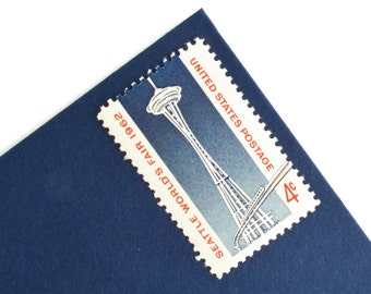 25 Seattle World's Fair Stamps - 4c - 1962 - Space Needle - Unused Postage - Quantity of 25