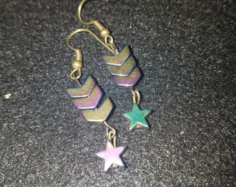 Handmade Dangling Galaxy Earrings