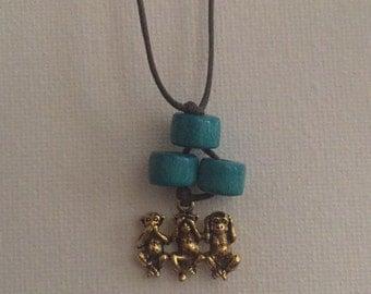 see no evil, hear no evil, speak no evil necklace #4