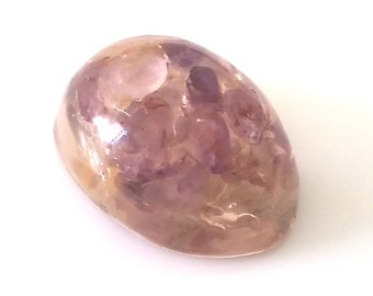 Amethyst cabochon, gemstone cabochon, gemstone, resin