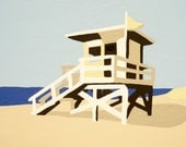 Life Guard Hut - Modern Paint by Number Kit