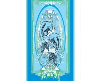 Pieces Horoscope Fish Beach Towel