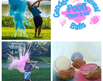 SALE Baseball Gender Reveal Baseballs : Baseball Gender Reveal Balls Pack Gender Reveal Baseball