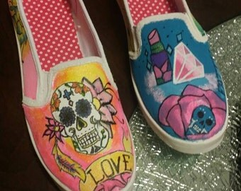 Skulls & Diamonds Custom Shoe