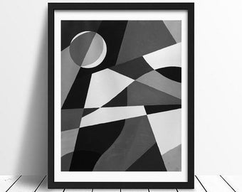 Moon and sky (painting or print)