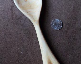 Medium serving spoon, cooking spoon, Cherry wood server