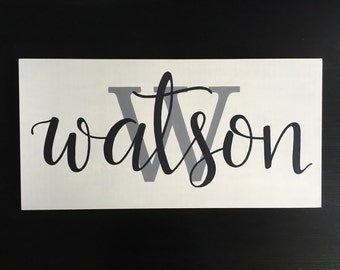 Last Name Sign | Personalized Wood Sign | Family Name Sign | Hand Painted Wood Sign | Home Decor | Wedding Gift