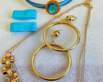 Princess Jasmine's costume set of hair band, necklace and earrings