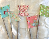 Scrappy Flags - Set of 5 - Moda Vintage Picnic Fabric