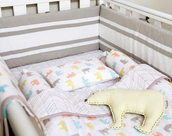 curious bearorganic crib bedding set baby bedding set baby blanket baby