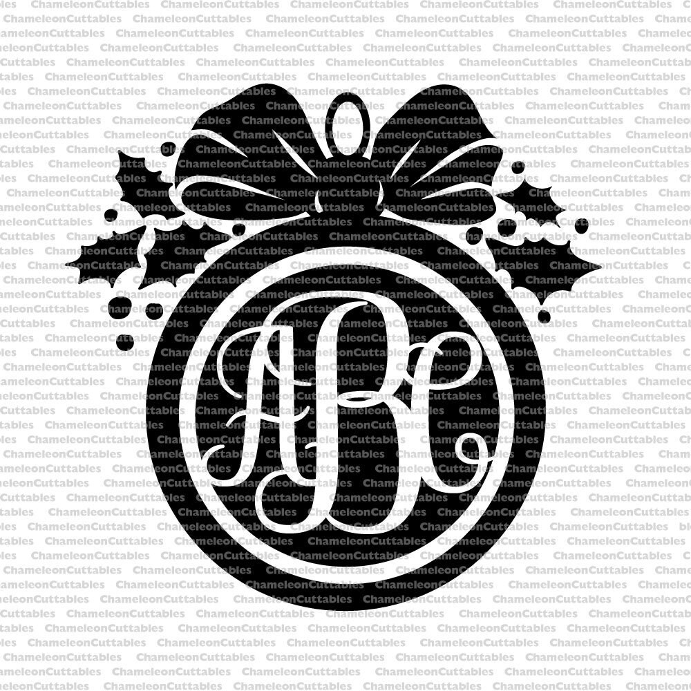 Christmas Ornament Black Svg Cut File Decal Vector