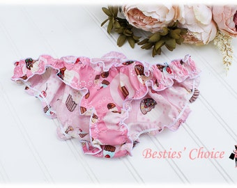 Cupcake Cotton Underwear Panties Pink Bikini Knickers Sleeping Clothes Panty Cute Pajama Valentine Gift Birthday Gift by Besties Choice