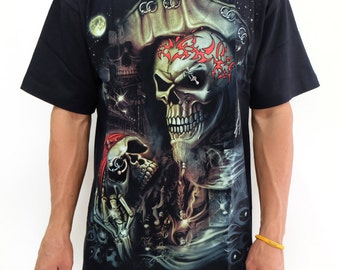 Pirate of caribbean Skll Jack Sparrow T-shirt Sz.M