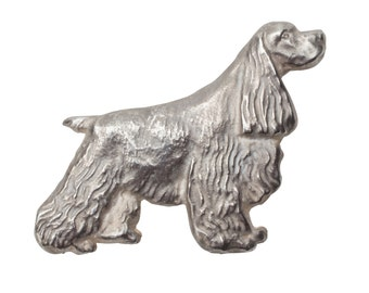 Vintage American Cocker Spaniel Dog Brooch pin Sterling Silver limited Edition Jewelry