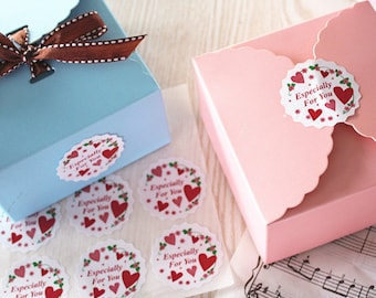 Especially For You Labels, Stickers, Tags with Hearts