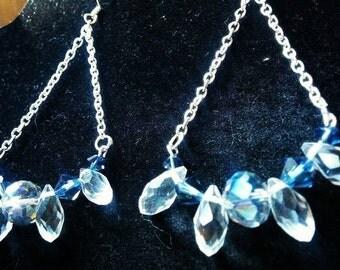 Swarovski chain earings
