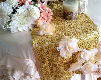 Gold Sparkle Table Runner, Gold Tablerunner