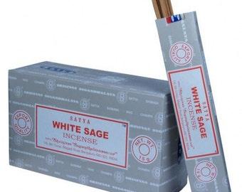 High quality Satya White Sage Incense sticks. 15g packs