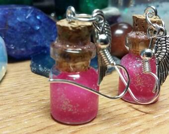 Galaxy Bottle Earrings