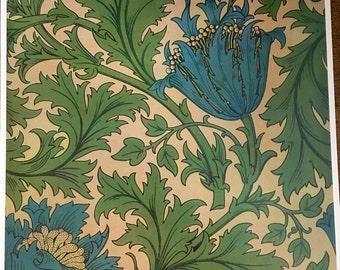 William Morris print - Anenome 1876