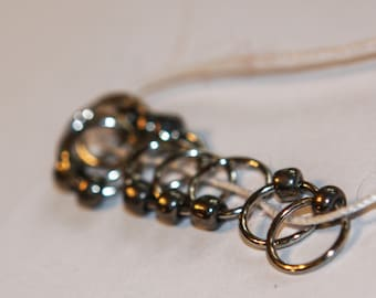 Silver Snag Free Stitch Markers (set of 10)