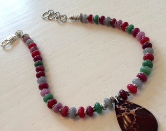 Candy necklace in hard stone