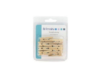 16 mini 35 mm - Clothespin - clamp wooden clothespins