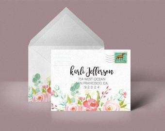 Floral Custom Printable Envelope Stationery