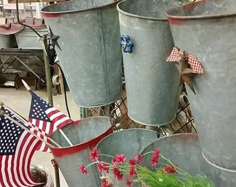 Sap Bucket with Decorative Accent