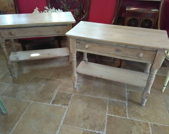 Pair of Vintage Cottage Style End Tables