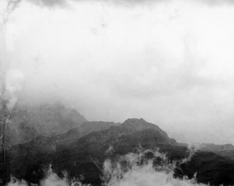 photography, mountain and cloud, fine art print, art and collections, landscape, blue