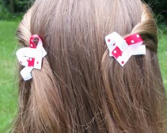 Heart Shaped Hair Bows