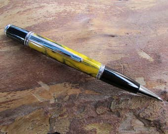 Black and Yellow Gatsby Pen