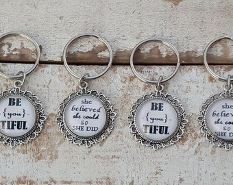 Inspirational Quote Key Chain