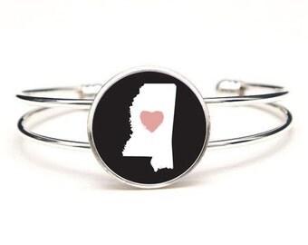 Love My State Cuff Bracelet
