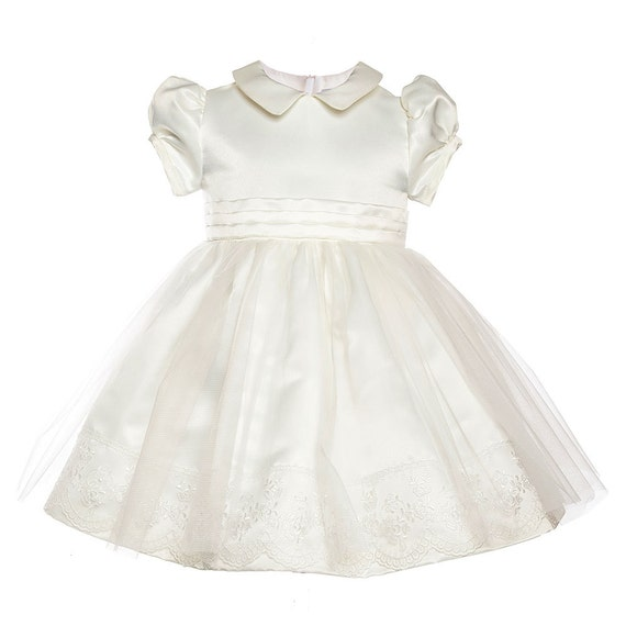 Ross Unique Princess Baby Girls Ivory Dress Ideal Special